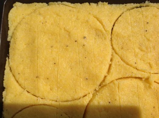 Polenta friet rondjes