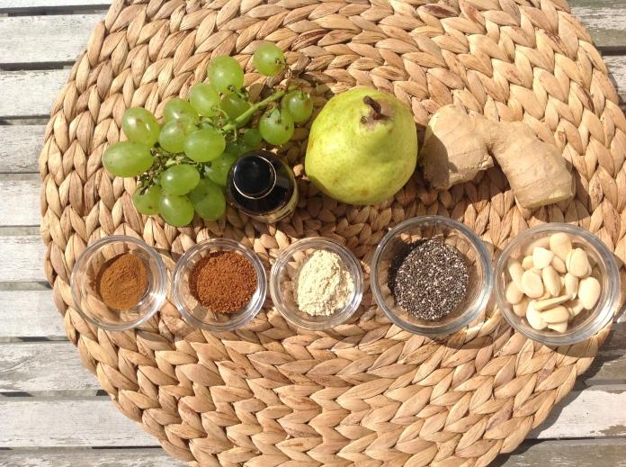 maca smoothie ingredienten met peer