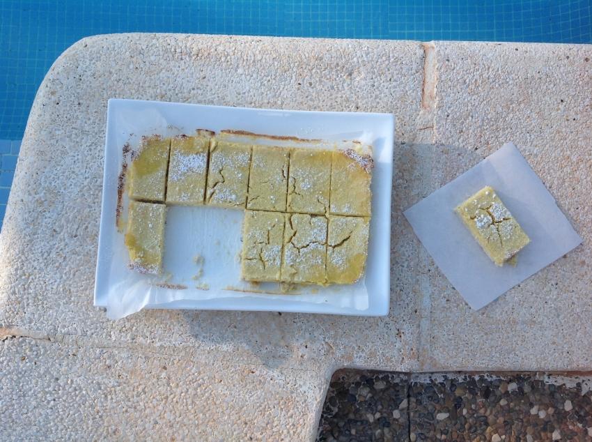 kokoscitroenbars bij zwembad